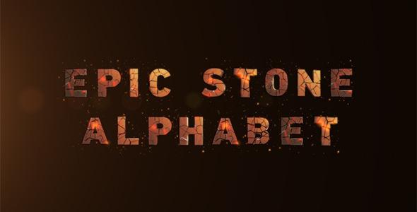 Epic Stone Alphabet