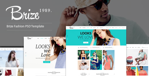 Brize - Fashion PSD Template