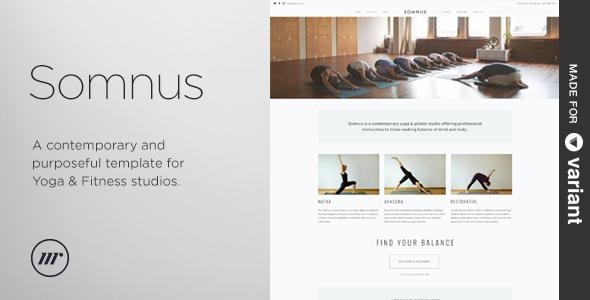 Somnus - Yoga & Fitness Studio Template + Builder