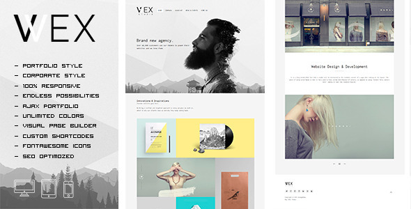 WEX – Minimalistic WordPress Portfolio Theme (Portfolio) Download