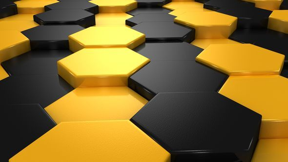 Yellow and Black Blocks Animation