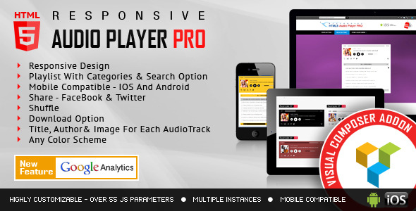 Visual Composer Addon - HTML5 Audio Player PRO