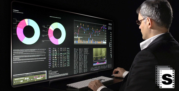 Futuristic Computer Screen