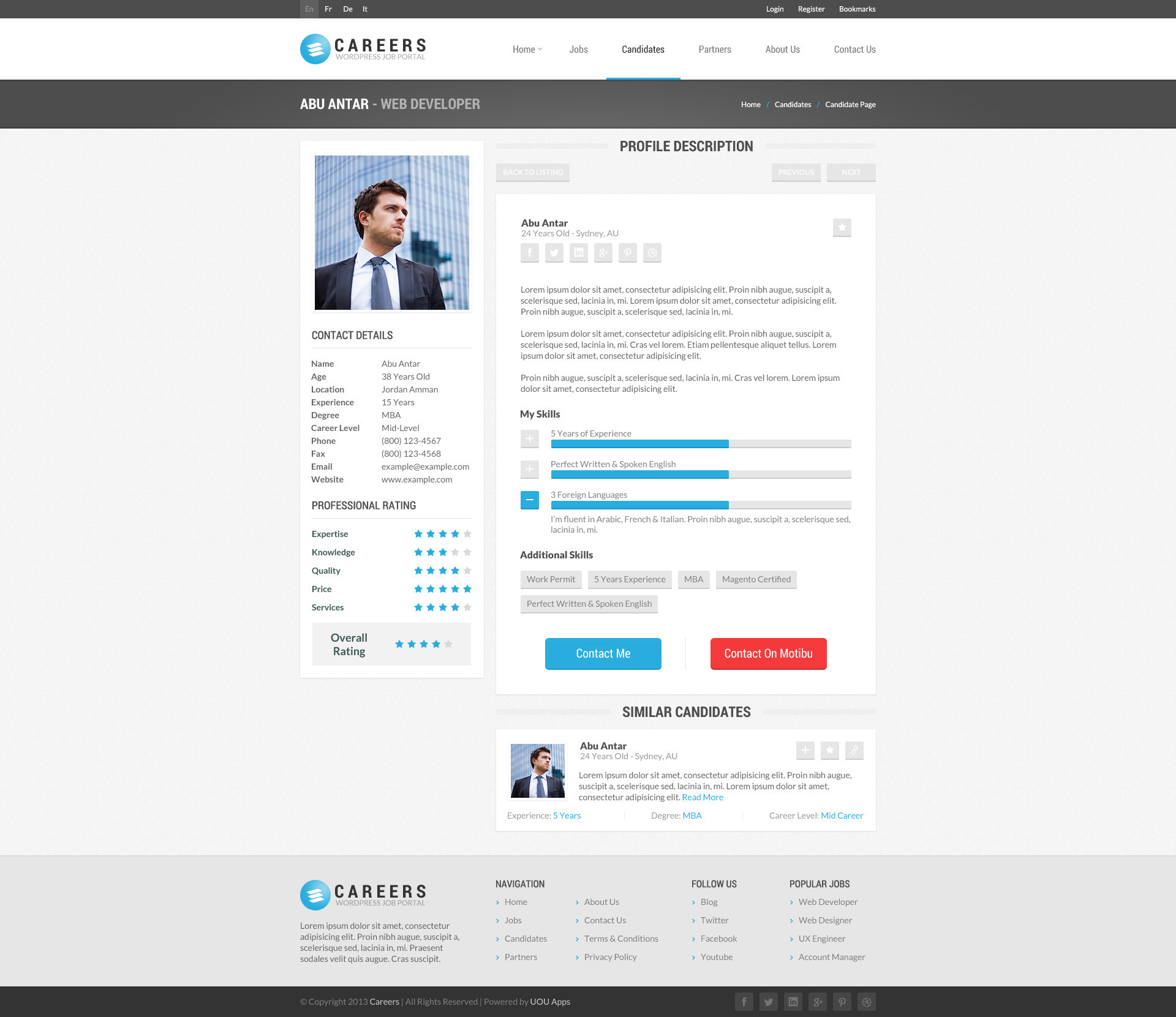 careers job portal candidates wp theme by uouapps themeforest careers job portal candidates wp theme
