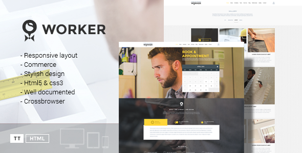 Worker – Small Business Booking Template (Corporate) Download