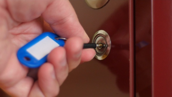 Unlocking and Locking an Office Cupboard