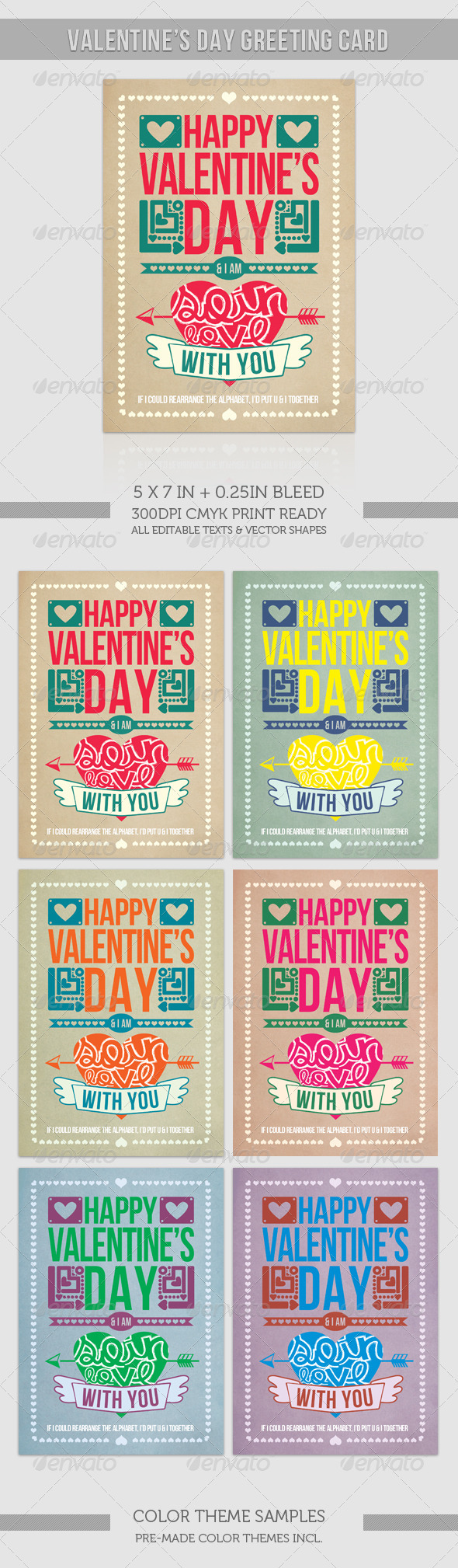GraphicRiver Valentine Card So in Love With You 1203488
