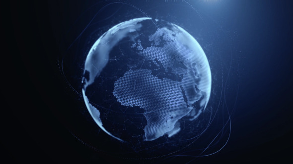 Spinning Digital Earth - Motion Graphics