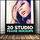 20 Studio Frame Mockups