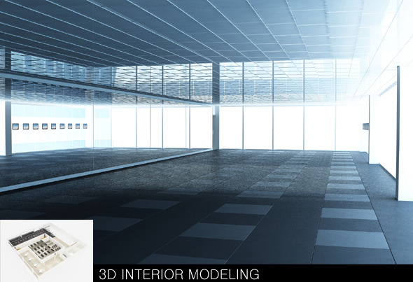3D INTERIOR MODELING - 3DOcean Item for Sale