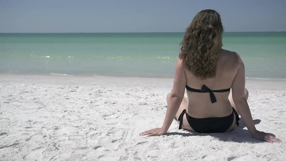 VideoHive Woman Relaxing On A Morning Beach 1 Of 9 12008860