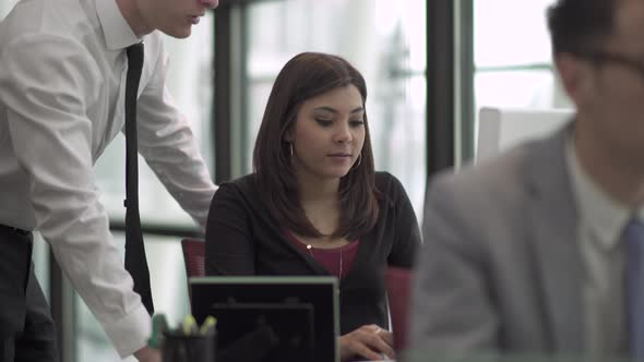 A Mixed Race Woman Works In A Attractive Modern Office 2 Of 7