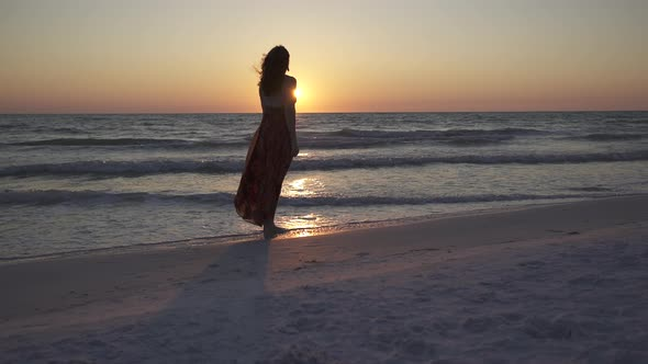 VideoHive Woman Relaxing On Beach At Sunset 2 Of 4 12008908