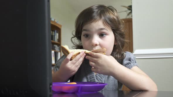 Scenes Of A Little Girl Eating 5 Of 8