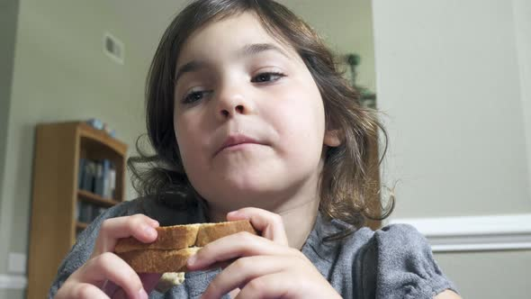 Scenes Of A Little Girl Eating 8 Of 8