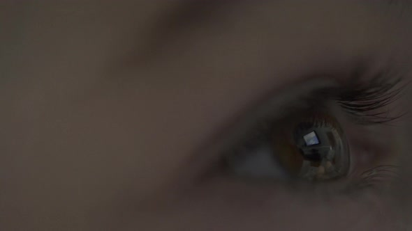Television Reflected In A Childs Eye 1 Of 4
