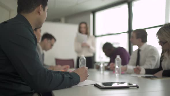A Caucasian Woman Leading A Meeting 2 Of 6