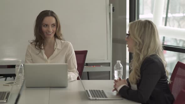 Two Professional Women In A Meeting 3 Of 5