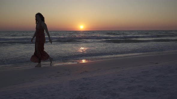 Couple Walking On Beach At Sunset 11 Of 23