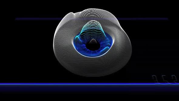 Abstract Retina Eye Scan