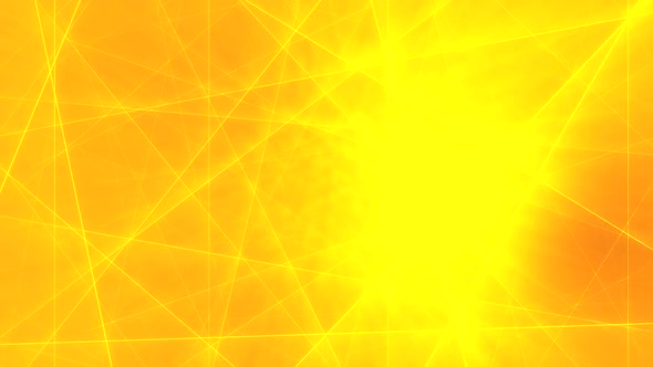 Abstract Yellow Lines On Orange Background