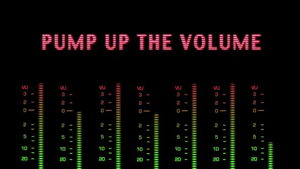 Pump Up The Volume Text Effect