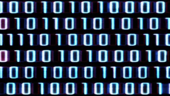 Blue Binary Code