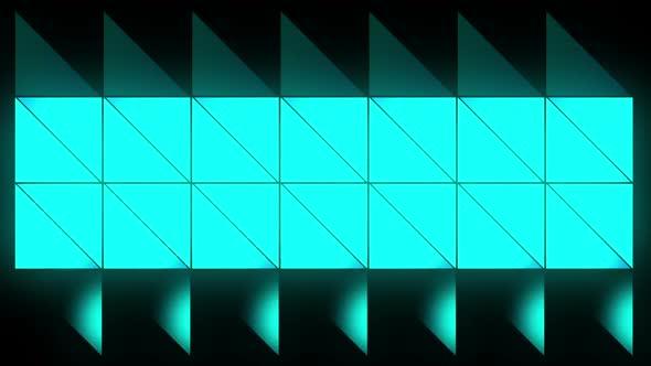 Blue Glow Triangles