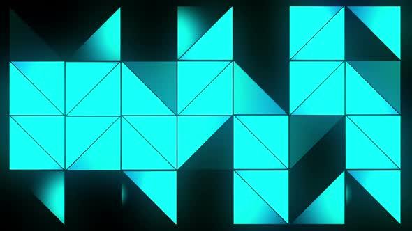 Blue Glow Triangles 2