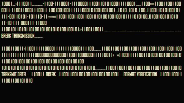 White Binary Code With Rgb Shift Effect
