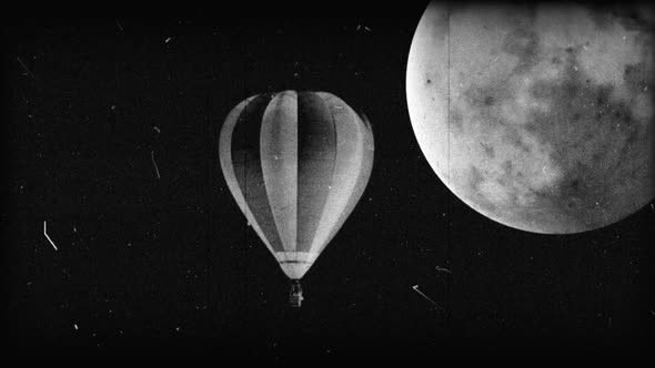 Black & White Hot Air Balloon 10