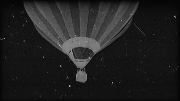 Black & White Hot Air Balloon 11