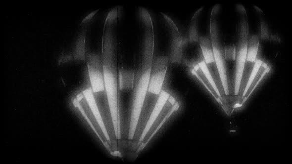 Black & White Hot Air Balloon 3