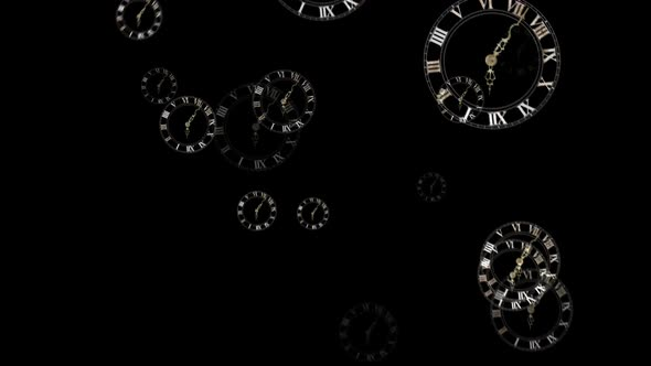 Falling Clock Particles