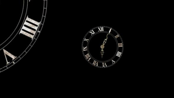 Spinning Clock Particles