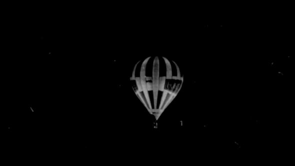 Black & White Hot Air Balloon 7