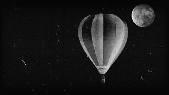 Black & White Hot Air Balloon 9