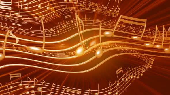 Golden Musical Notes 1