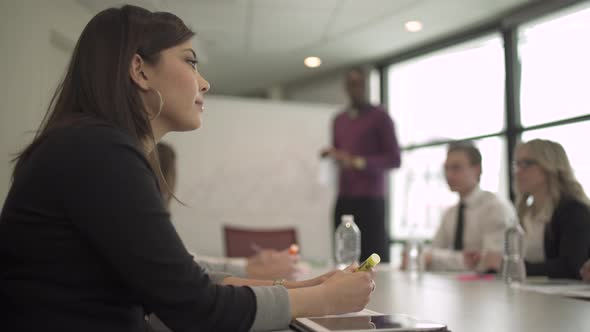 Profile Of A Professional Mixed Race Woman In A Meeting 2 Of 4