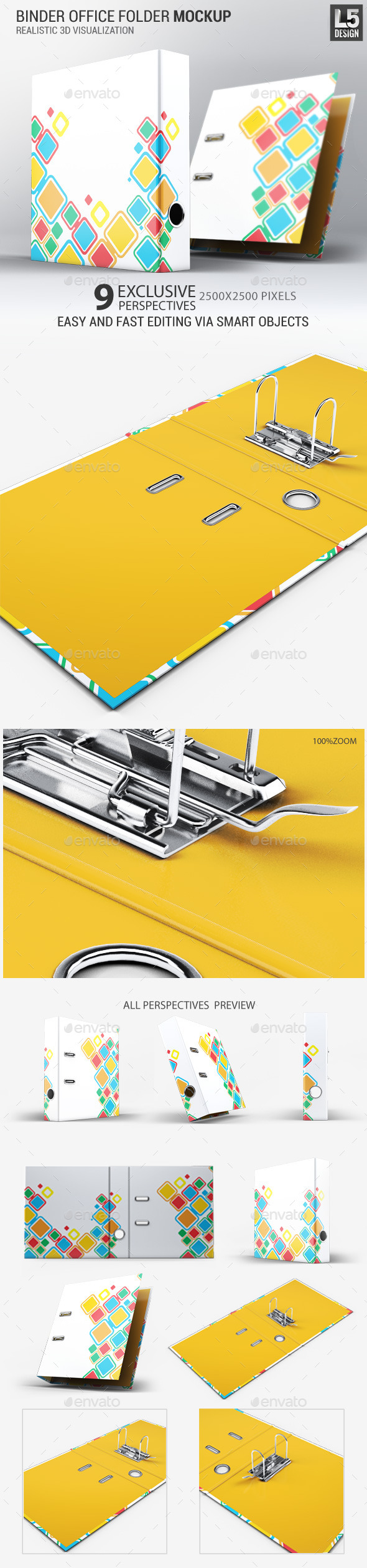 Binder Office Folder Mock-Up (Stationery)