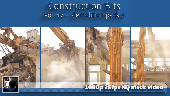 VideoHive Construction Bits 17 - Demolition Pack 2 12010750