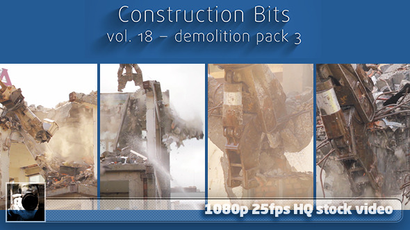 VideoHive Construction Bits 18 - Demolition Pack 3 12011146