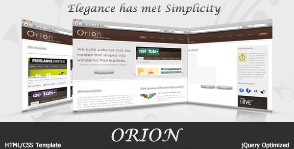 Orion | Elegant portfolio Template