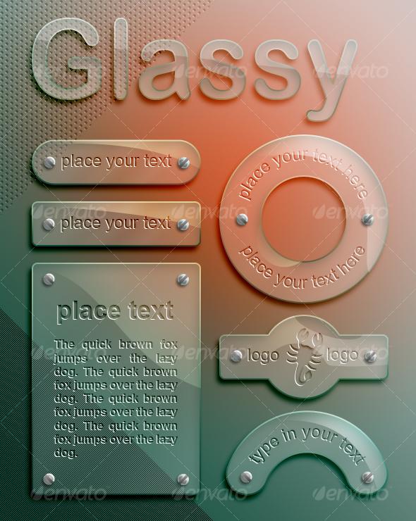 glassy panels