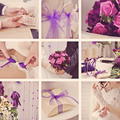 Wedding collage in vintage style