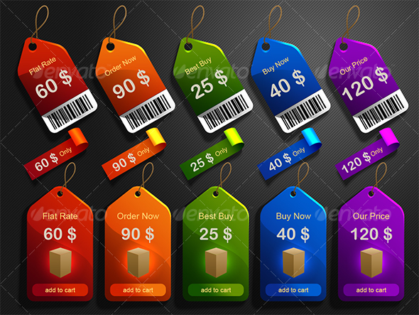 GraphicRiver tags stickers and labels 46631