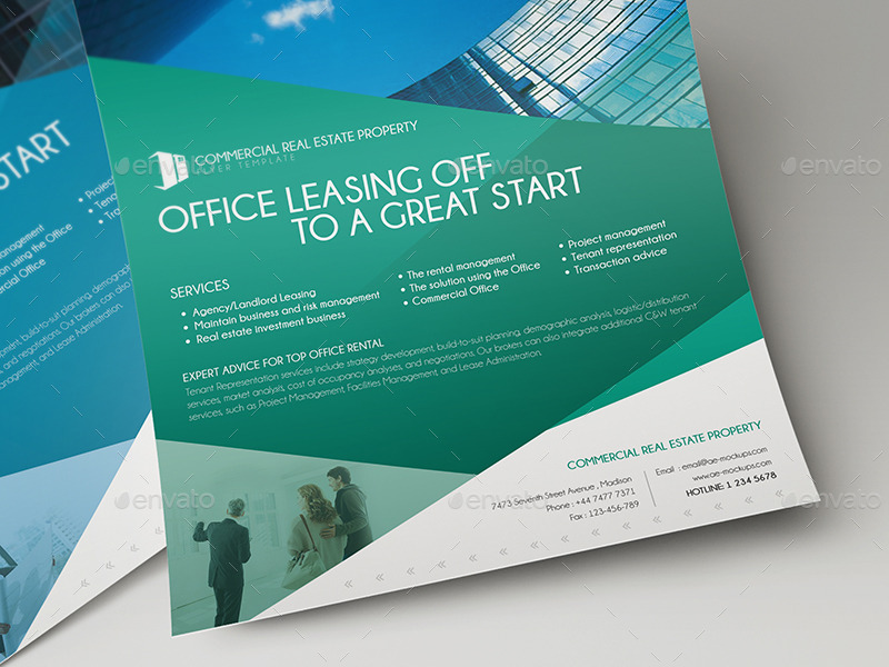 commercial real estate brochure template - commercial real estate property flyer template 01 by