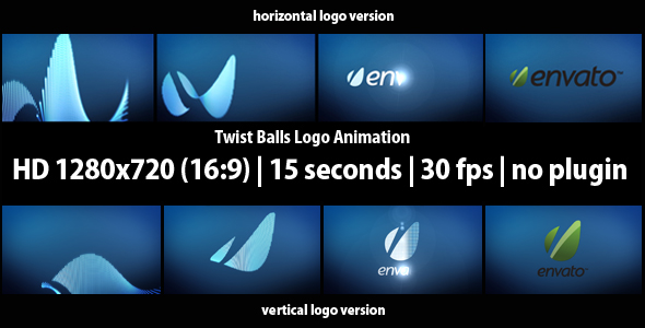 Twist Balls Logo Animation