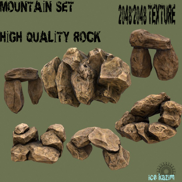 3DOcean Mountain Set 1 12013933