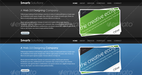 GraphicRiver Bold Website Ready Headers 48597